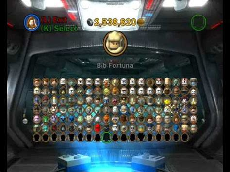 All the Lego Star Wars the Clone Wars 3 III Characters