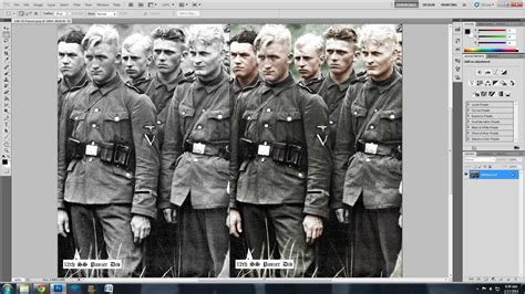 WWII Photo Speed Colorization - 12th SS Panzer Div