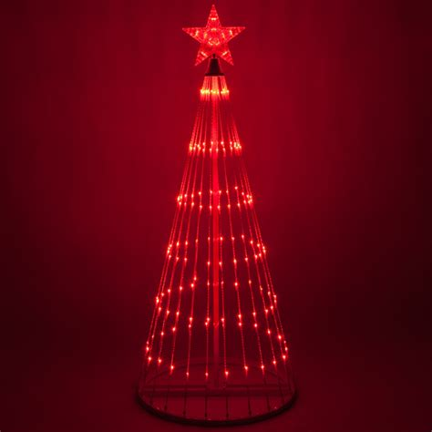 Red LED Animated Outdoor Lightshow Tree