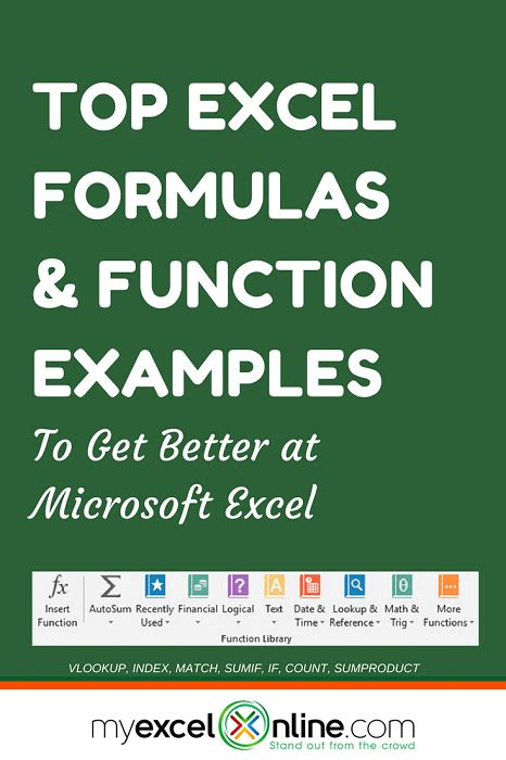 The Ultimate Excel Formulas & Function Examples   Free