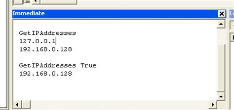 Access/VBA Tutorials - Get all IP Addresses of your machine