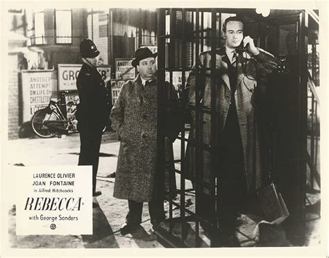 ALFRED HITCHCOCK'S ON SCREEN CAMEO IN REBECCA (1940; 1947