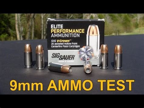 SIG SAUER V-CROWN 9mm Ammo Review - YouTube