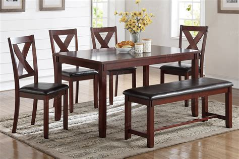Dining Table w/ 4 Chairs & Bench (F2298) - Online