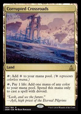 Corrupted Crossroads   OATH OF THE GATEWATCH MTG Visual